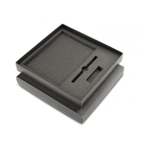 Pudełko do 3 elementów (notes A5 większy + dług.+ USB)