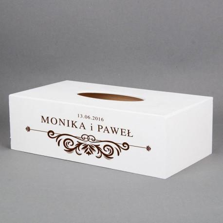 Pudełko na chusteczki - Wedding