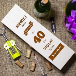 Skrzynka na wino 40 urodziny - prezent
