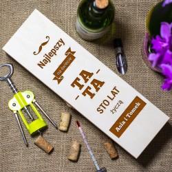 Drewniana skrzynka na alkohol - Najlepszy Tata na świecie!