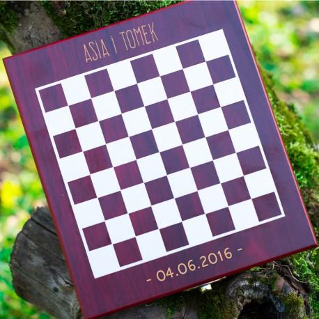 Zestaw do wina z szachami dla pary