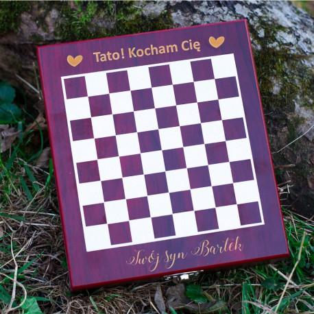 Zestaw do wina z szachami dla taty
