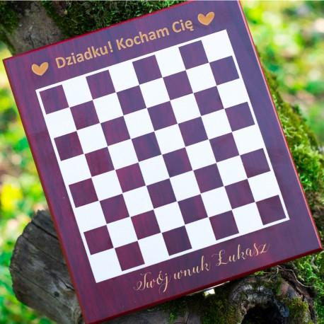 Zestaw do wina z szachami dla dziadka kocham Cię