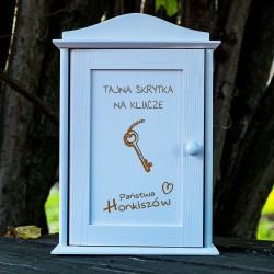 Drewniana skrzynka na klucze Tajna skrytka prezent na parapetówkę
