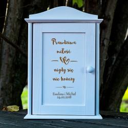 Skrzynka na klucze Prawdziwa Miłość prezent na ślub
