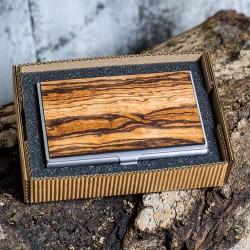 Wizytownik drewniany - Zebrano