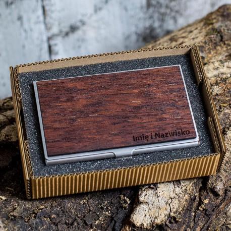 Wizytownik drewniany - Merbau