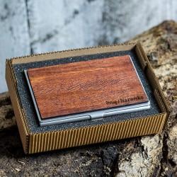 Wizytownik drewniany - Jatoba
