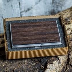 Wizytownik drewniany - Wenge