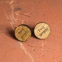 Spinki do mankietów drewniane z grawerem - Twój Projekt