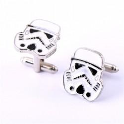 Spinki do mankietów Star Wars, Szturmowcy - srebrne, białe