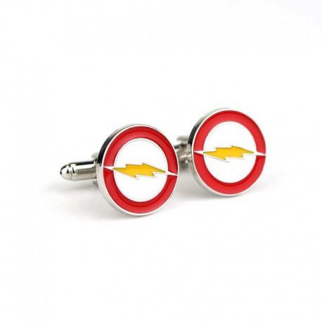 Spinki do mankietów The Flash - biało, żółto, czerwone