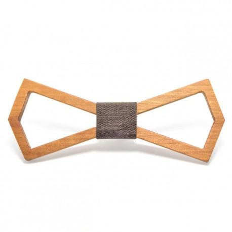 Muszka drewniana - ramka, kolor brązowy