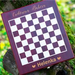 Zestaw do wina z szachami Prezent dla Babci